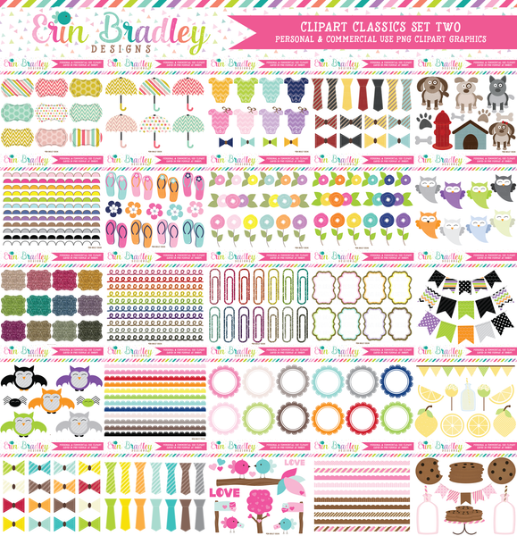 Clipart Classics - Clipart Bundle Set Two - 100 Sets