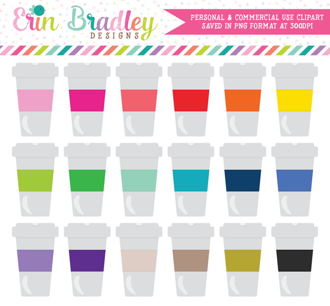 Coffee Cups Commercial Use Clipart
