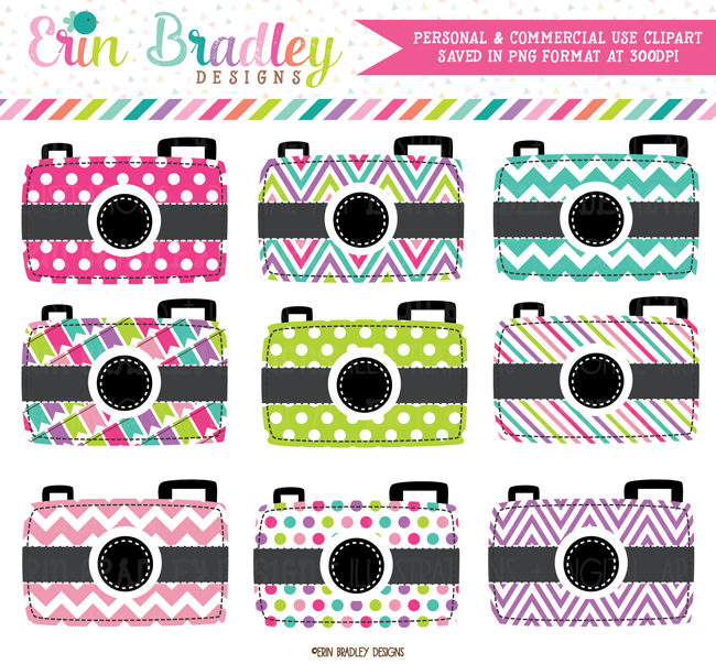 Colorful Cameras Photography Clipart