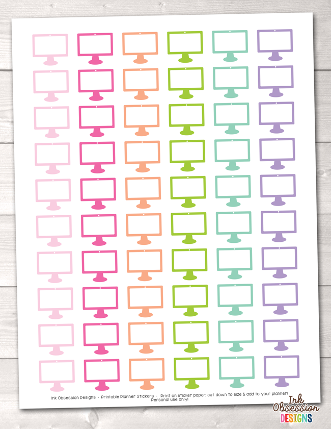 Computer Printable Planner Stickers