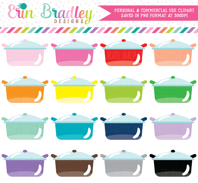 Cooking Pots Clipart