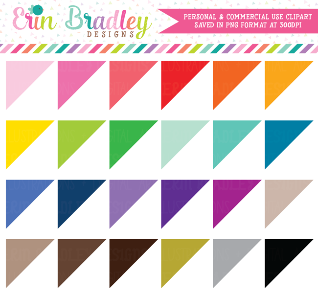 Corner Triangles Clipart Commercial Use Graphics
