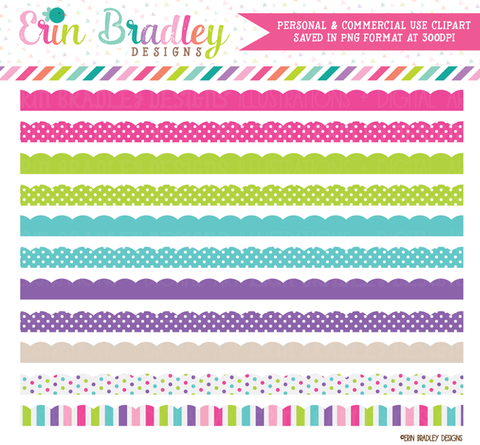 Cotton Candy Borders Clipart