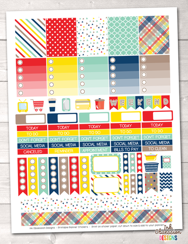 Craft Collection Printable Planner Stickers Weekly Kit