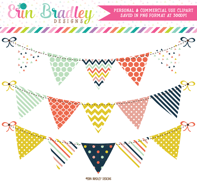 Craft Party Clipart Bunting