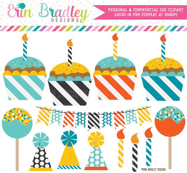 Cupcakes and Cake Pops Clipart
