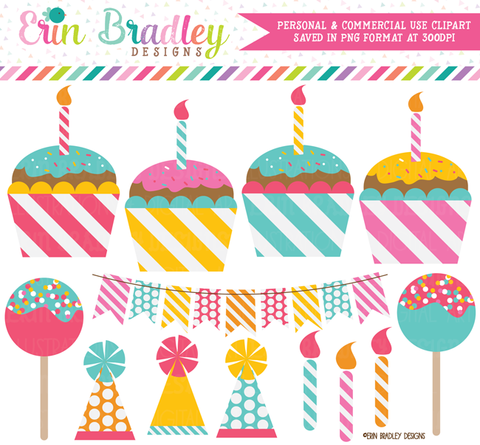 Cake Pops and Cupcakes Party Clipart