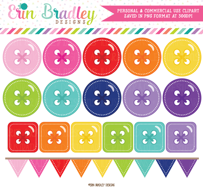 Cute as a Button Commercial Use Clipart
