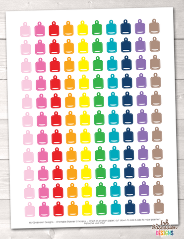 Cutting Board Printable Planner Stickers