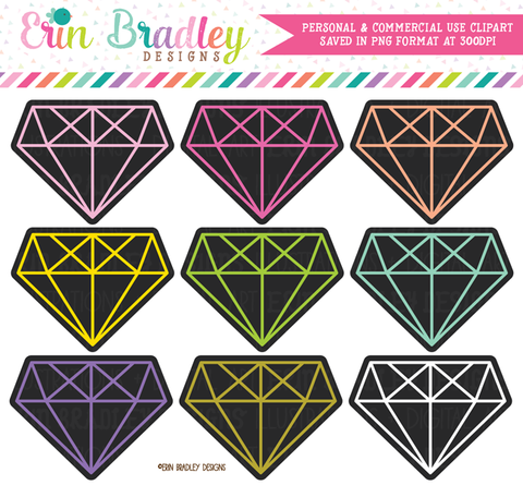 Black Diamonds Clipart