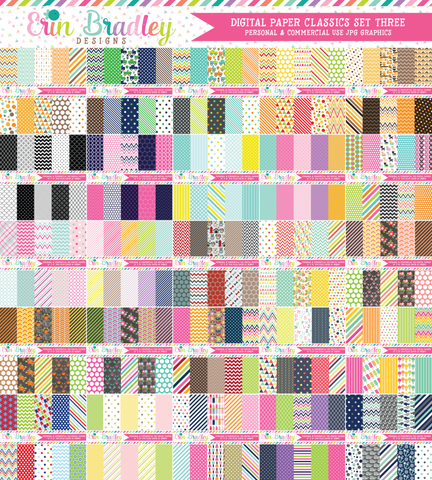 Digital Paper Bundle - Classics Set Three