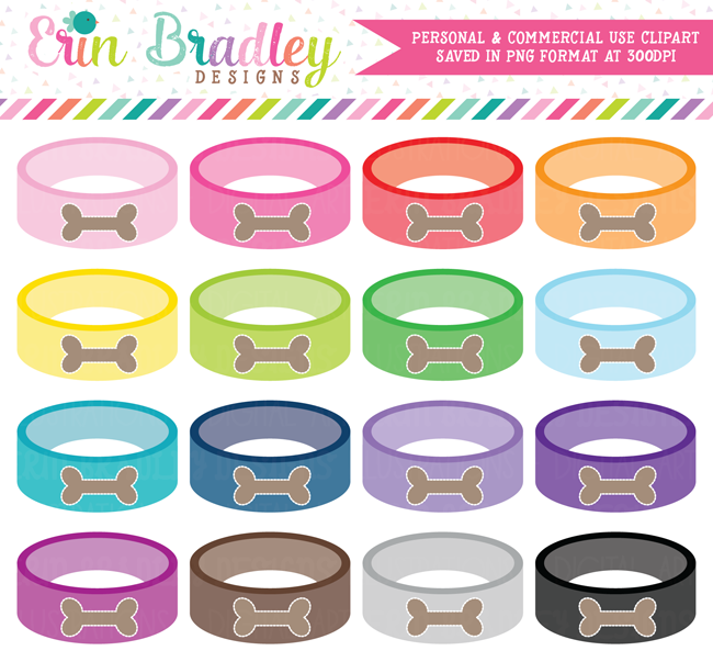 Dog Food Bowl Clipart Graphics