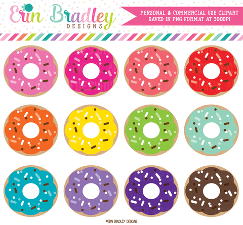 Colorful Donuts Clipart