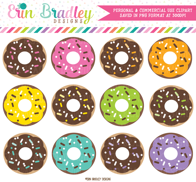 Chocolate Donuts Clipart