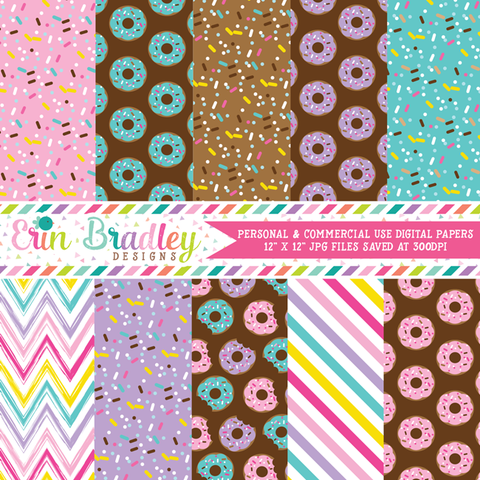 Donuts Digital Paper Pack