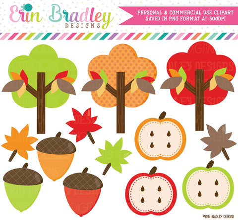 Autumn Fall Clipart Graphics Commercial Use