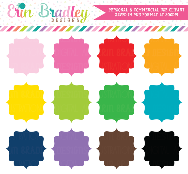 Fancy Tags Clipart Commercial Use Graphics