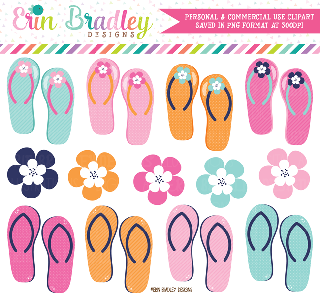 Flip Flops Shoes Clipart Graphics