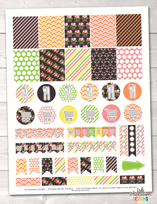 picture relating to Printable Sticker named Floral Things Printable Planner Stickers Weekly Package