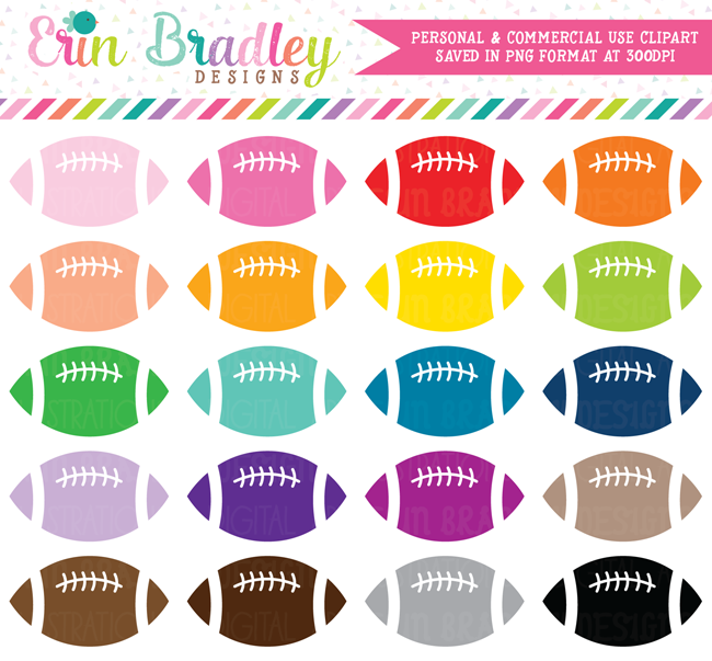 Football Clipart, Sports Clip Art Graphics