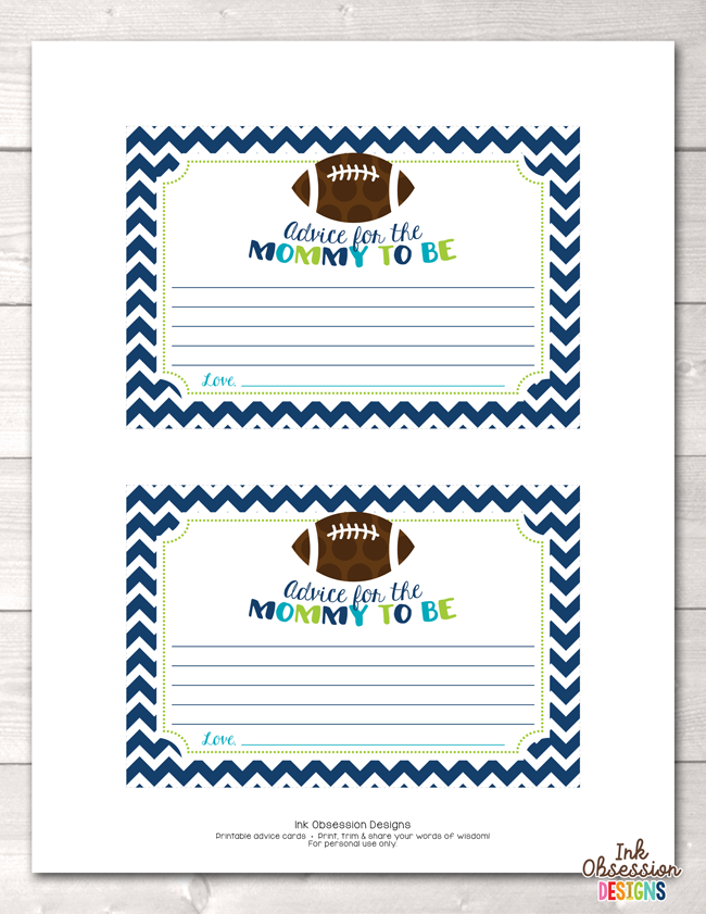 graphic relating to Mommy Advice Cards Printable identified as Soccer Printable Mommy Tips Playing cards