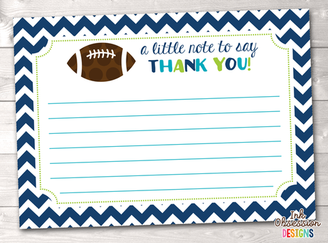 Football Printable Thank You Cards