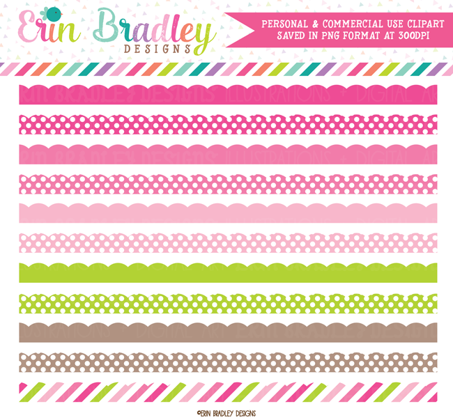 Clipart Borders Pink Green Brown