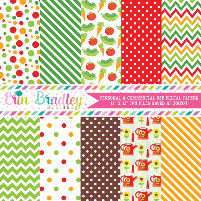 Garden Digital Paper Pack