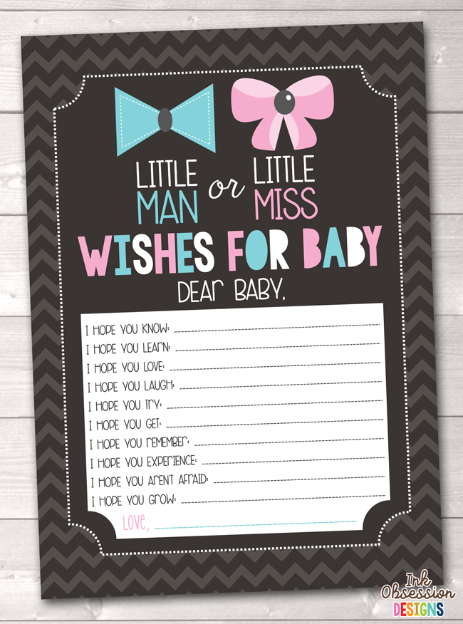 graphic about Gender Reveal Printable named Gender Describe Social gathering Printable Little one Wants Playing cards