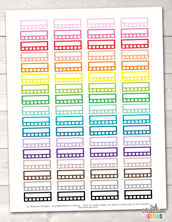 Habit Tracker Printable Planner Stickers