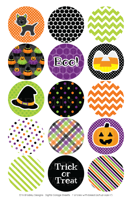 Halloween Digital Bottle Cap Images