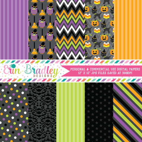 Halloween Friends Digital Paper Pack