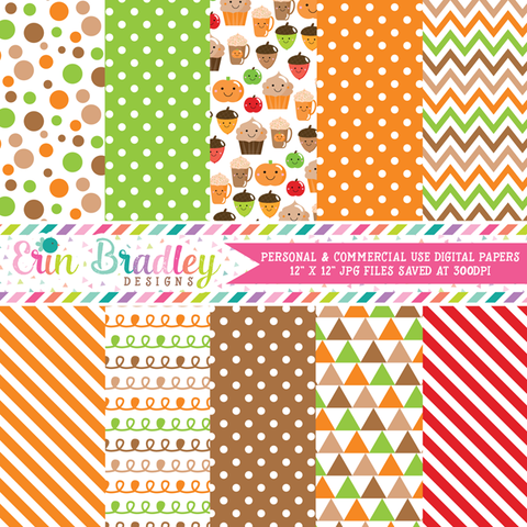 Happy Fall Digital Paper Pack