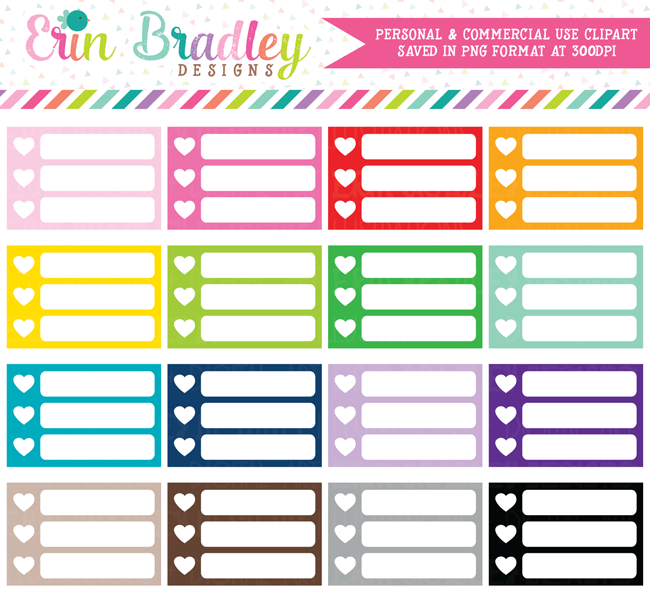 Small Heart Checklists Clipart