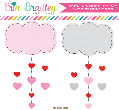 Heart Clouds Clipart
