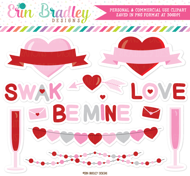 Valentines Day Elements Clipart