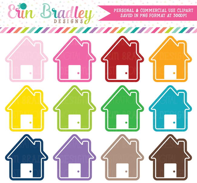 Instant Download House Clipart Graphics