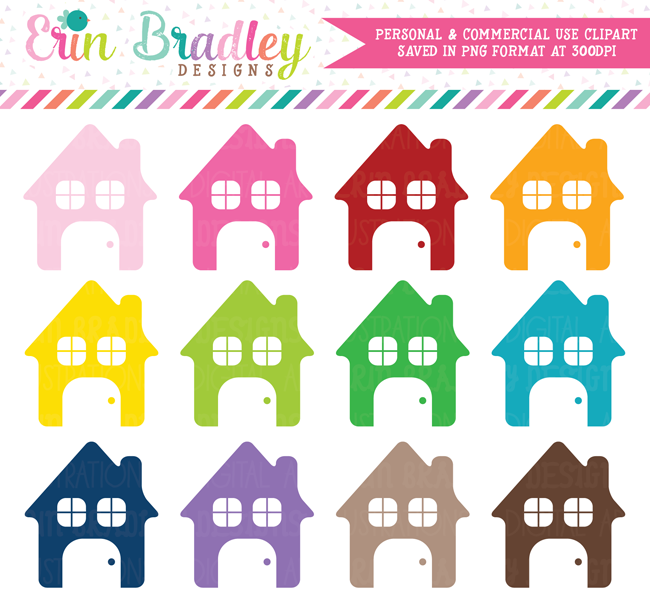 House Clipart Graphics Set Commercial Use OK