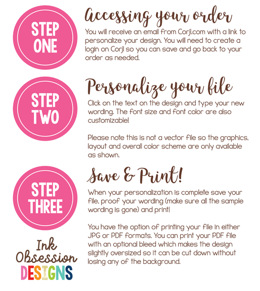 Editable Promoted to Big Brother Pregnancy Reveal Announcement Instant Download