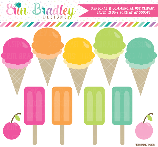 Ice Cream Party Clipart