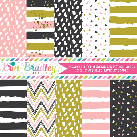 Just Peachy Digital Paper Pack