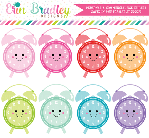 Kawaii Clocks Clipart
