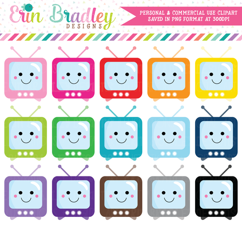 Kawaii TV Sets Clipart
