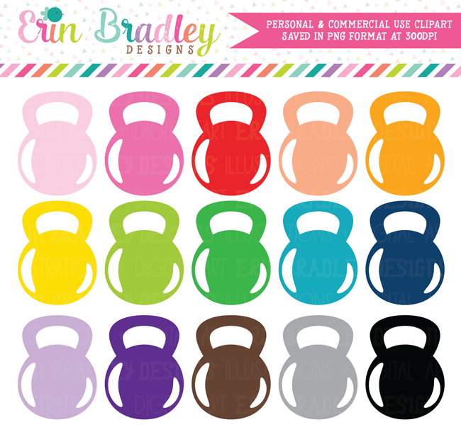 Kettlebell Clipart, Gym and Exercise Clip Art