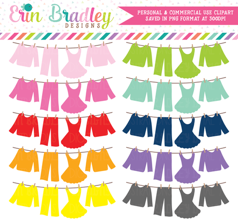 Laundry Line Bunting Clipart