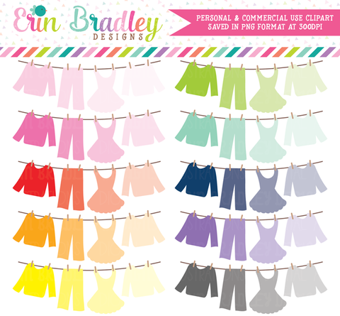 Ombre Laundry Line Bunting Clipart