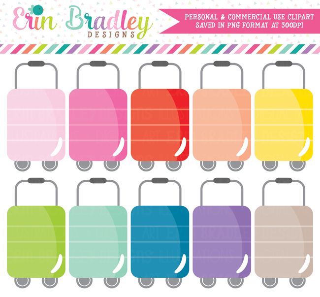 Luggage Clipart Travel Graphics