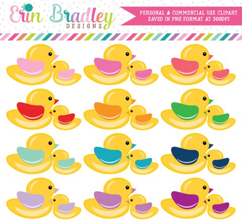 Mama and Baby Duck Clipart Graphics