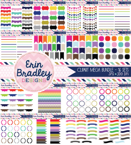 Mega Clipart Bundle Set One Instant Download Commercial Use Graphics