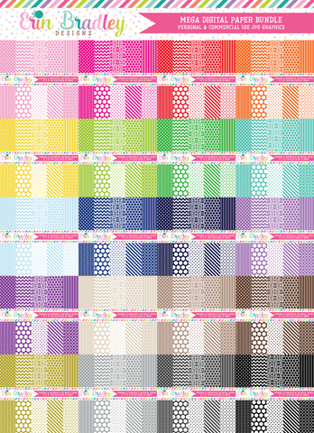 Mega Digital Scrapbook Paper Bundle